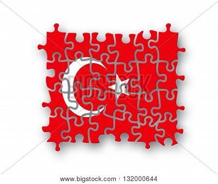 Turkey Flag Jigsaw