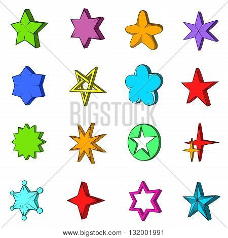 Star icons set in pop-art style isolated on white background