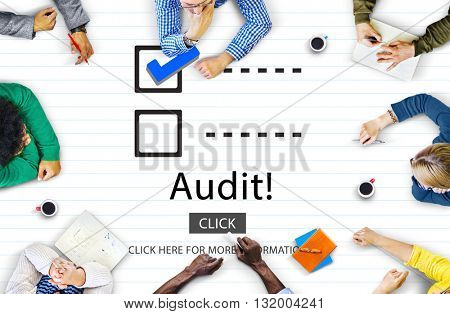 Checklist Choices To Do Audit Evaluation Concept