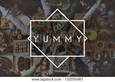 Tasty Yummy Taste Food Meal Concept