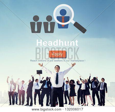 Headhunt Headhunting Hiring Human Resources Concept