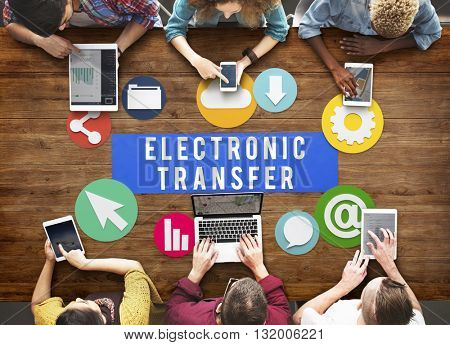 Electronic Transfer Technology Online Network Concept
