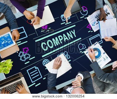 Company Business Collaboration Ideas Teamwork Concept