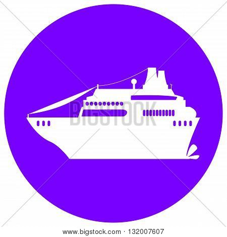 Cruise liner illustration with the place for text flat style cruise ship cruise liner print summer travel cruise white cruise liner cruise liner icon cruise liner vector cruise liner sticker