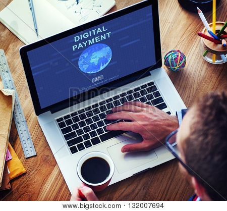 Digital Payment Accounting Financial Banking Concept