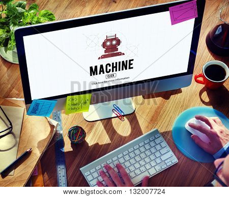 Machine Engine Industrial Manufacturing Process Concept