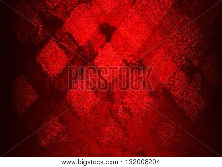 red abstract on concrete road on the street backgrounds