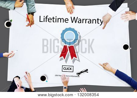 Lifetime Warranty Prize Condition Guarantee Concept