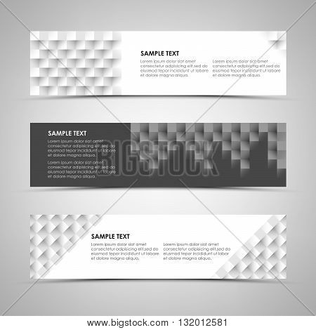 Abstract horizontal banners with design patterns vector eps 10