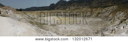 Stefanos crater. The volcano on the island of Nisyros. Greece