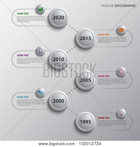 Time line info graphic with design bubbles template vector eps 10