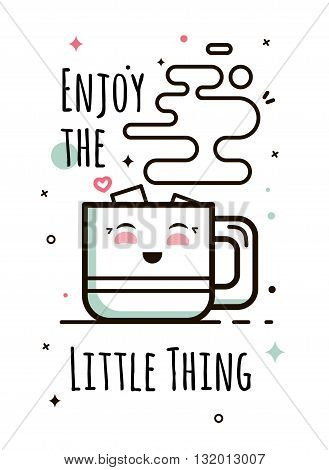Enjoy the little things hand-lettering. Enjoy the little things hand-lettering.