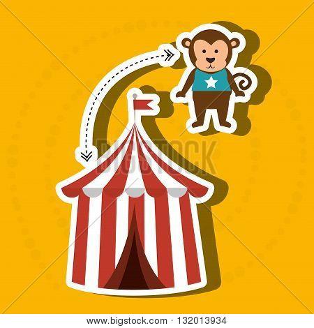 amusement park design, vector illustration eps10 graphic