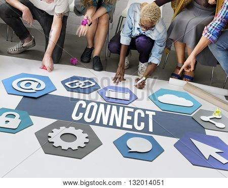 Connect People Network Graphic Concept