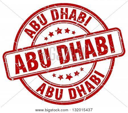 Abu Dhabi red grunge round vintage rubber stamp.Abu Dhabi stamp.Abu Dhabi round stamp.Abu Dhabi grunge stamp.Abu Dhabi.Abu Dhabi vintage stamp.