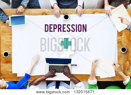 Depression Downturn Decline Recession Sadness Concept
