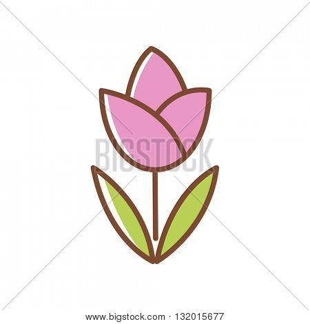 Tulip flower icon.Vector