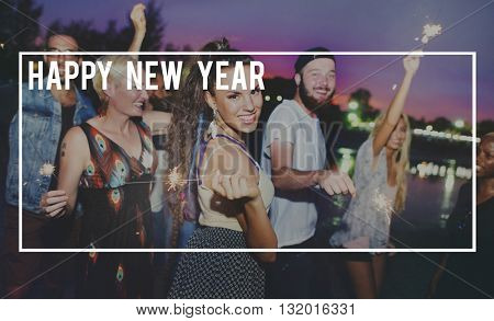 Happy New Year 2016 Celebration Greeting Concept