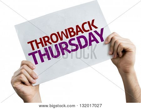 Throwback Thursday placard isolated on white