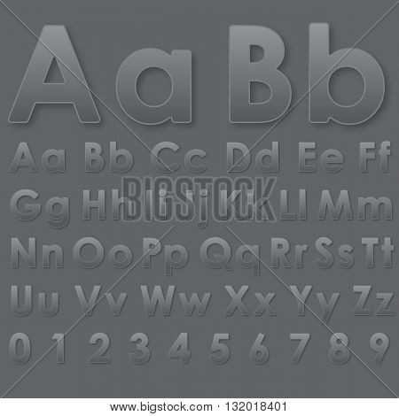 Alphabet Letters On A Gray Background