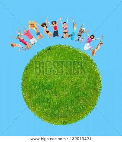Our Planet Green Globe