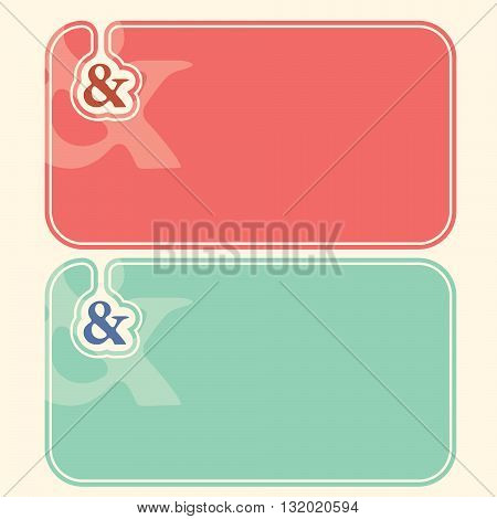 Color business cards with the symbol of ampersand