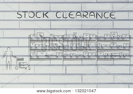 Customer Buying Products, Stock Clearance