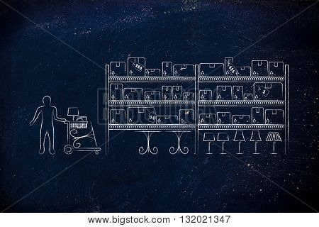 Customer Buying Furniture