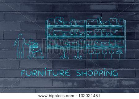 Customer Buying Furniture, Furniture Shopping