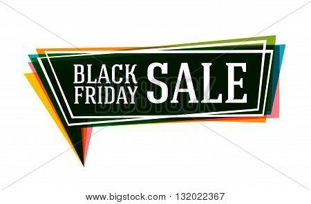 Black Friday sale banner. Sale tag. Sale poster. Sale vector. Vector illustration