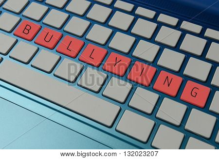 online or cyber bullying concept with a computer