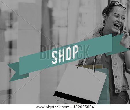 Shop Commerce Marketing Money Purchase Retail Concept