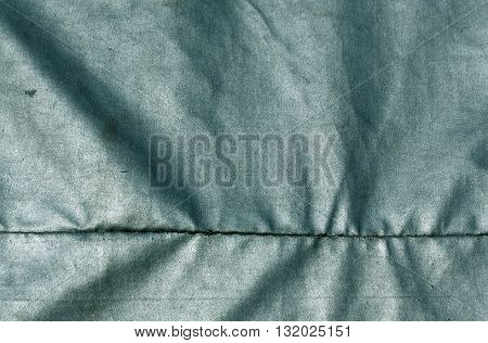 Abstract Cyan Waterproof Textile Texture.