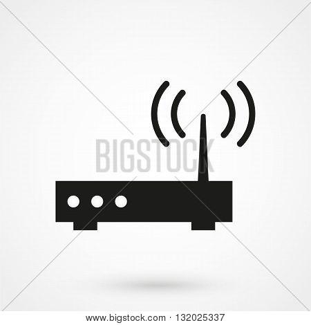 Wifi Router Icon Black On White Background