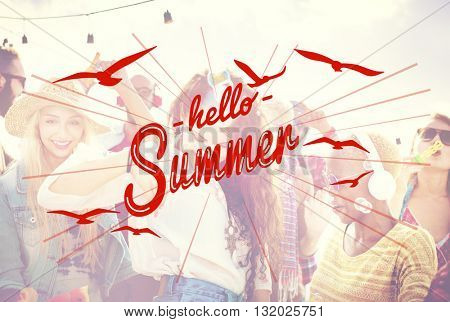 Hello Summer Holidays Rest Relaxation Concept
