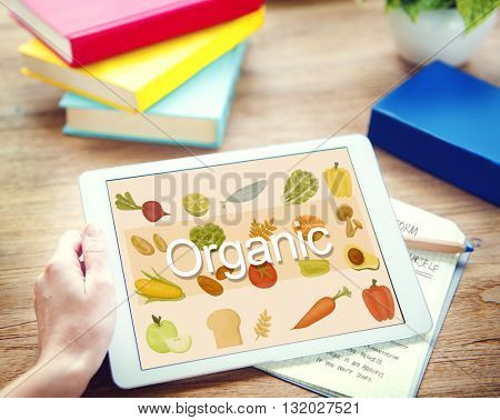 Organic Nutrition Nature Ingredients Agriculture Concept