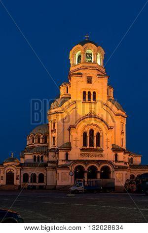Amazing Night photo of Alexander Nevsky Cathedral, Sofia, Bulgaria