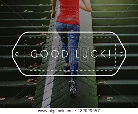 Good Luck Chance Fate Fortune Positive Success Concept