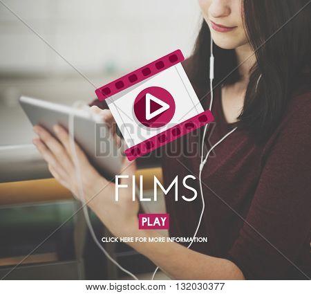 Films Camera Cinema Entertainment Frame Concept