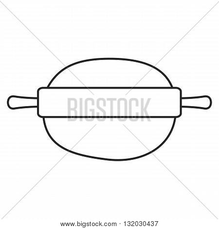 Line icon kitchen rolling pin. Vector illustration.