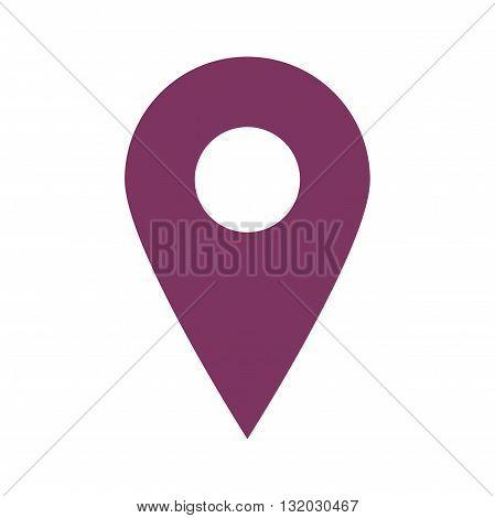 Flat icon pin. Web icon. Vector illustration.