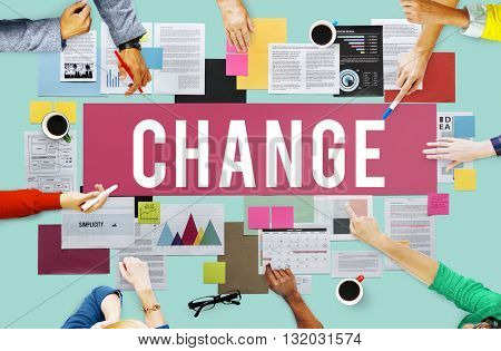 Change Choice Development Ideas Improvement Concept