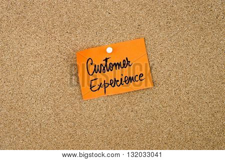 Customer Experience Written On Orange Paper Note