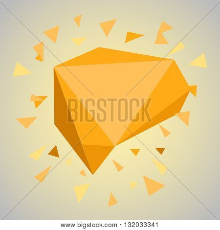 Abstract geometric color cloud. Template for a content. Vector blank box copy-space