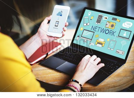 Network Networking Internet Scial Media Concept
