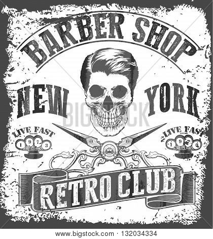 Vintage Barber Shop tee graphic fashion style
