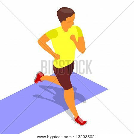 running sprinter isometric runner isometric flat activity