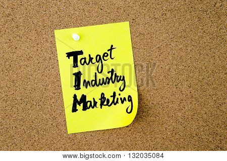Business Acronym Tim Target Industry Marketing