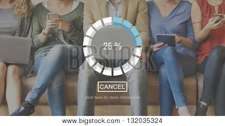 Download Upload Bar Icon Progress Concept