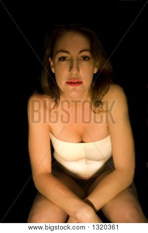 Isolated Girl In Tank Top